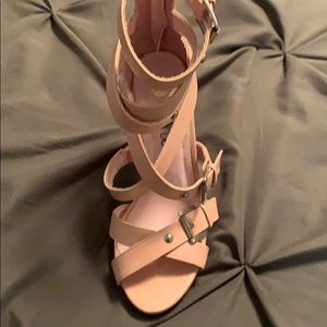 Pink straps heels